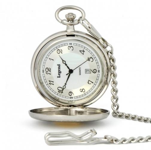 e34ac9510 Legend vreckové hodinky biely kov